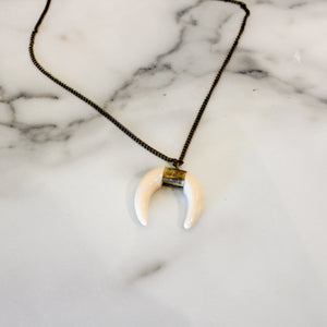 Ivory Horn Gold Chain Necklace - Olive Street