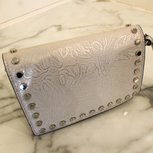 Stud Tooled Crossbody