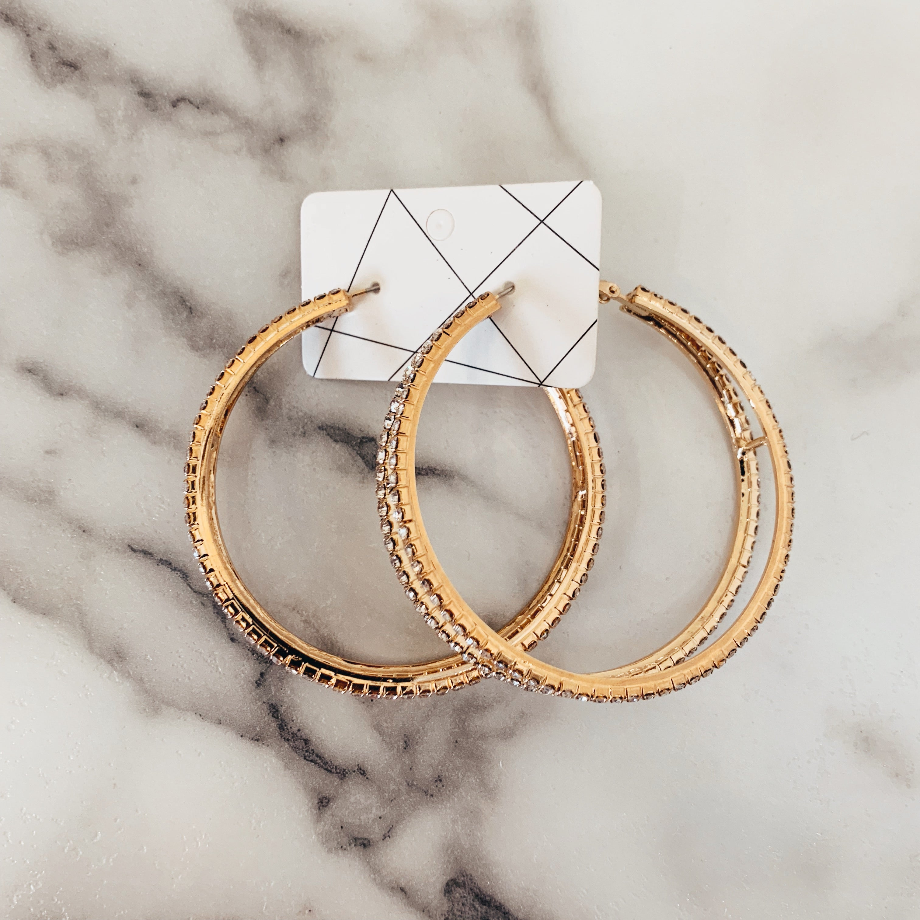 Gold Cut Out Hoop - Olive Street