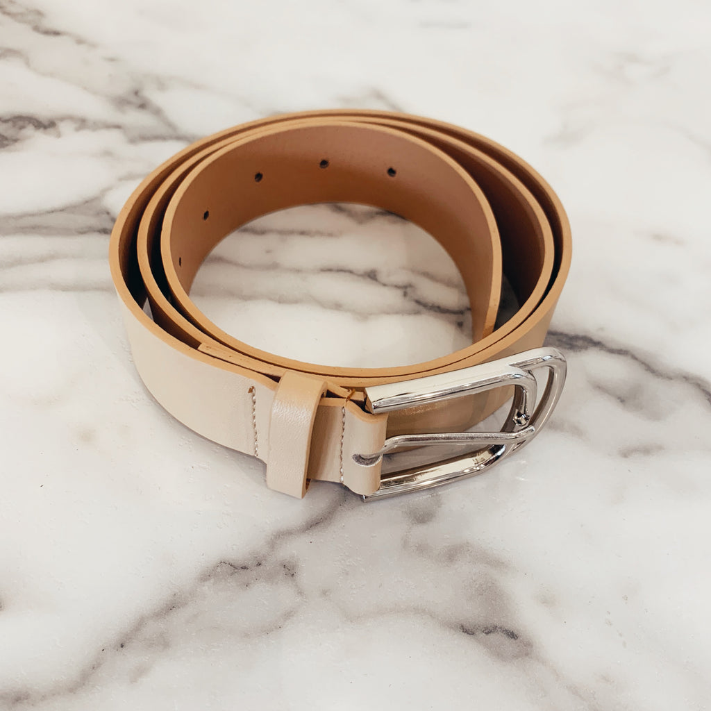 Double Buckle Solid Belt - Olive Street