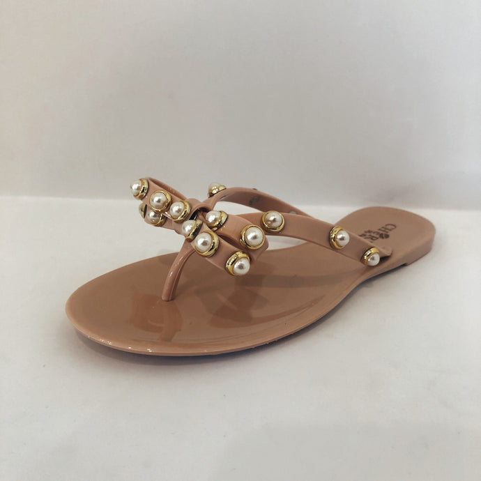 Nude Bow Flip Flop
