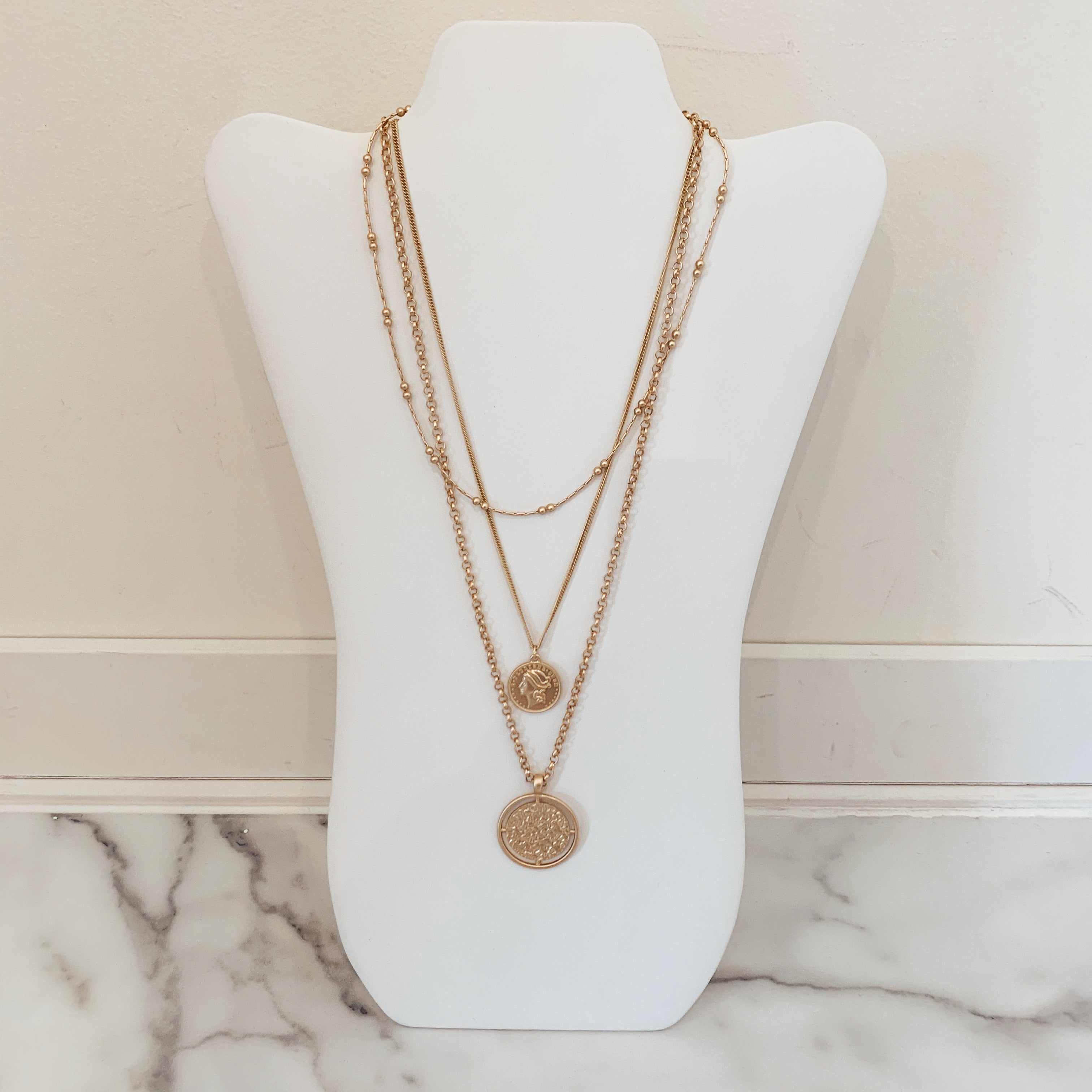 Multi Coin Necklace - Olive Street