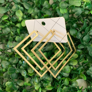 Square Cut Out Hoop - Olive Street