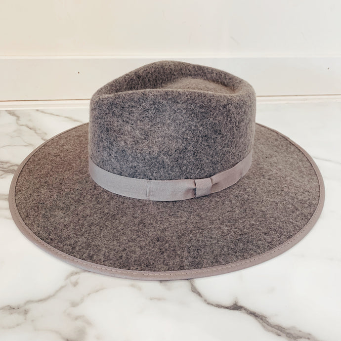 Grey Wool Panama Hat - Olive Street