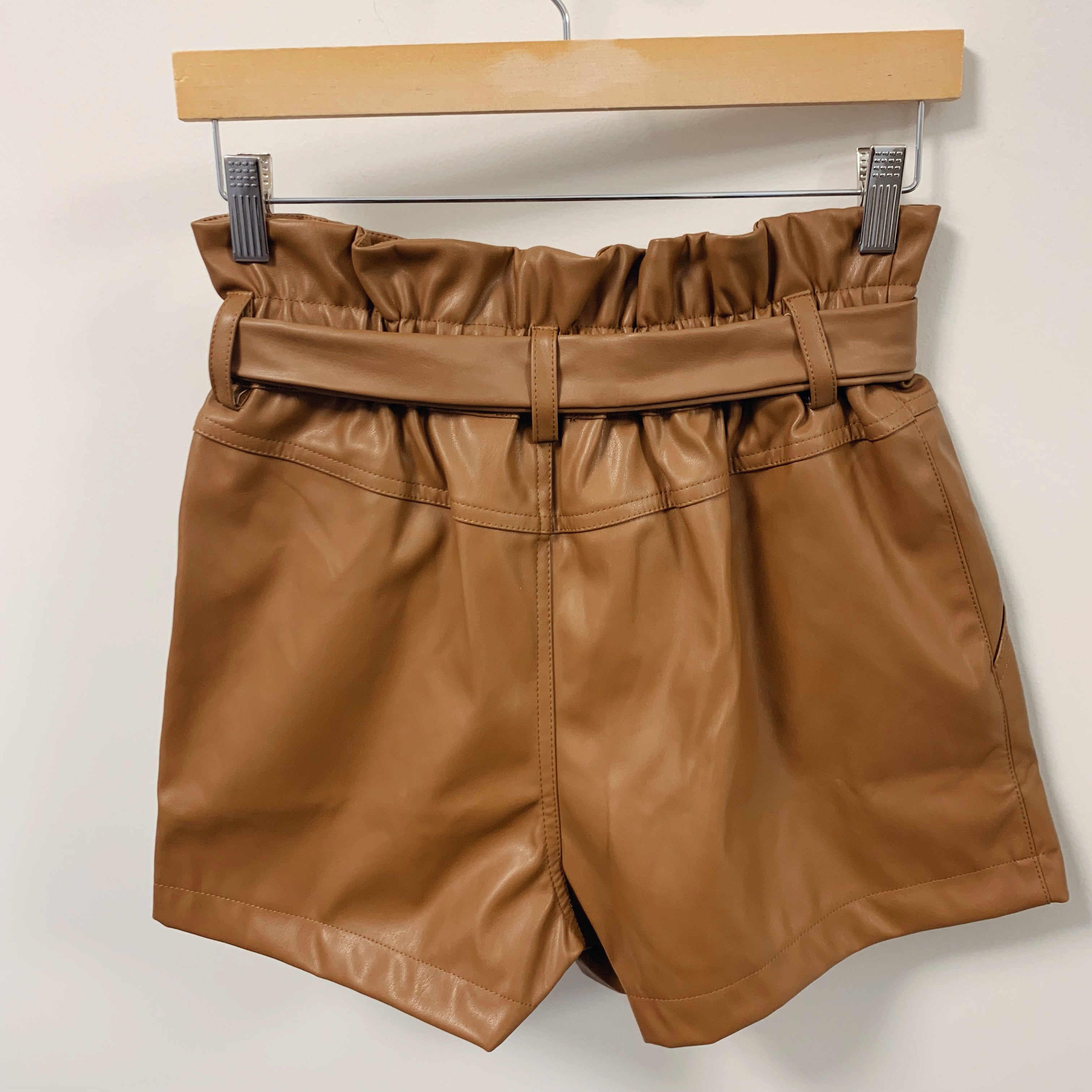 Faux Leather High Rise Short - Olive Street