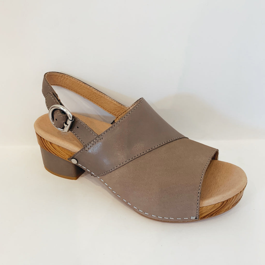 Madalyn Slingback Heeled Slide - Olive Street