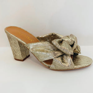 Gold Bow Mule