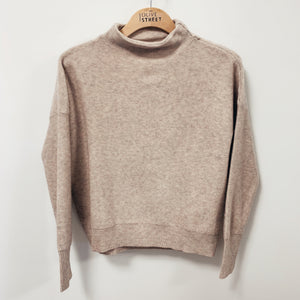 Taupe Mock Neck Turtleneck - Olive Street