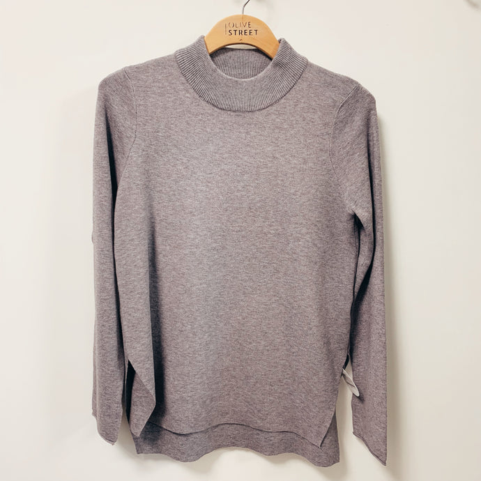 HighLow Mock Neck Sweater
