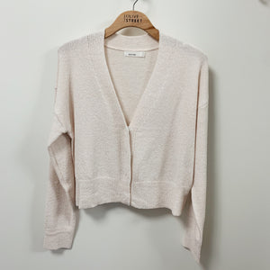 Buttoned Crop Cardigan - Olive Street