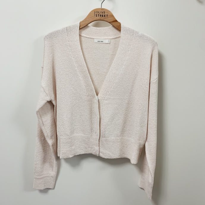Buttoned Crop Cardigan