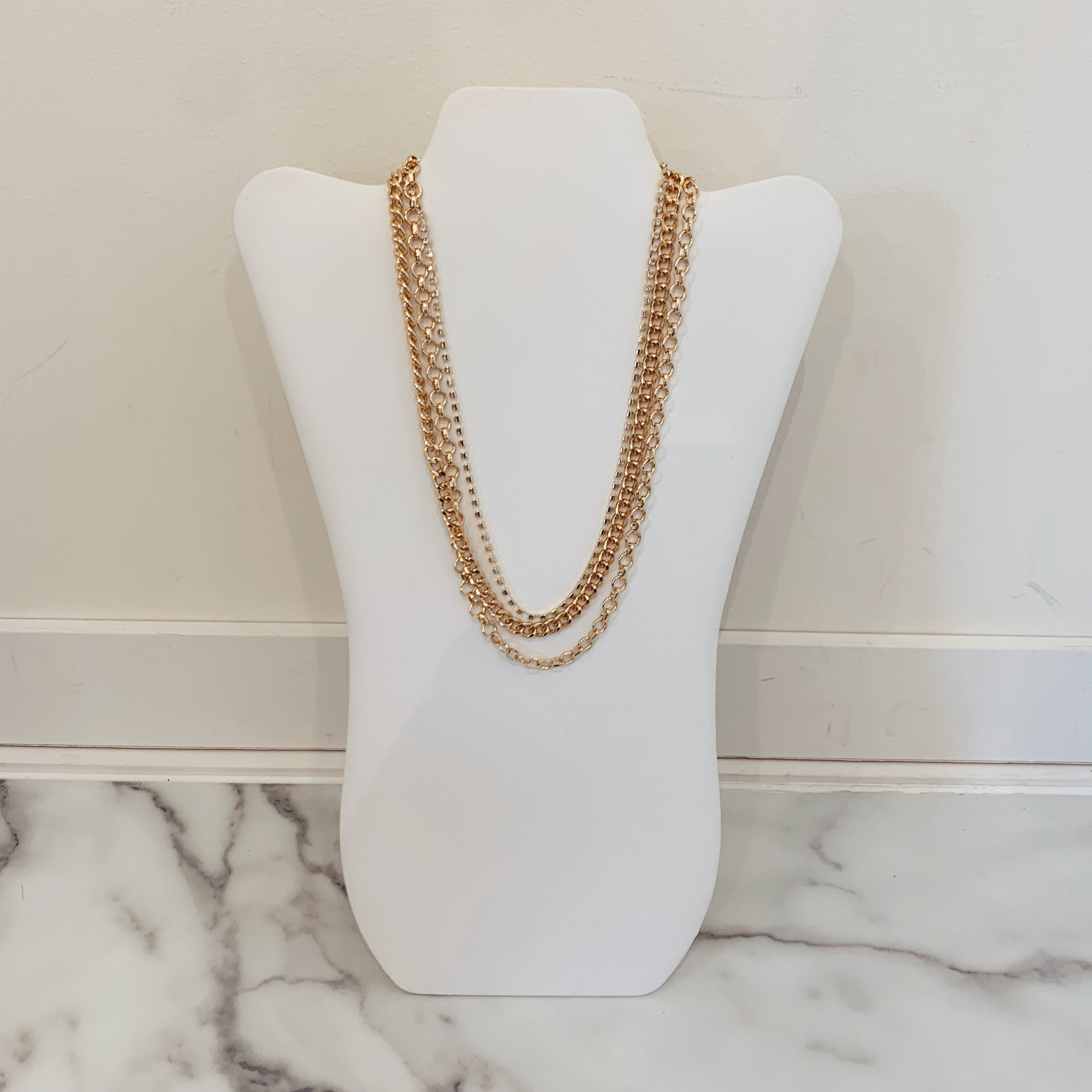 Layered Crystal Chain - Olive Street