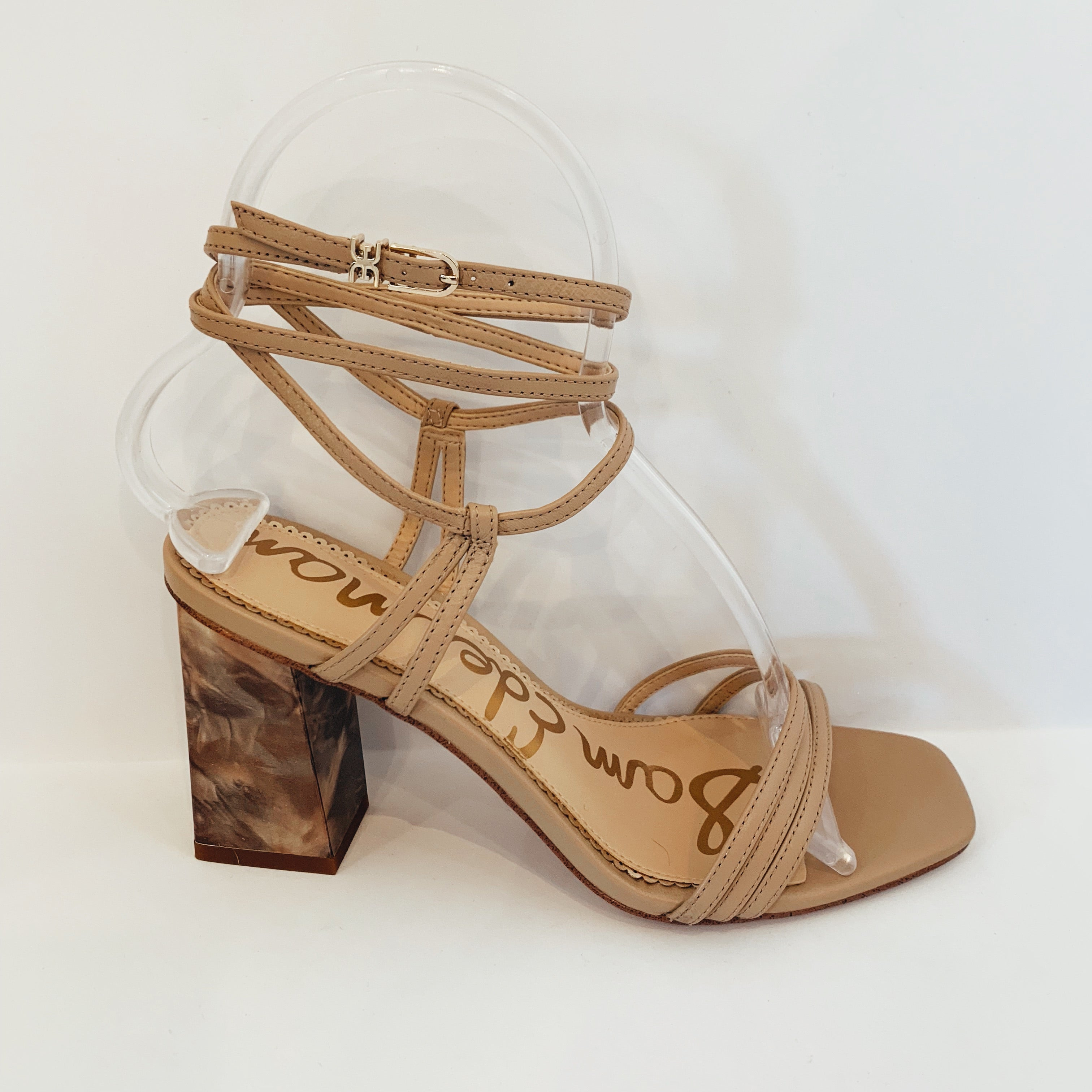 Strappy Marble Heel - Olive Street