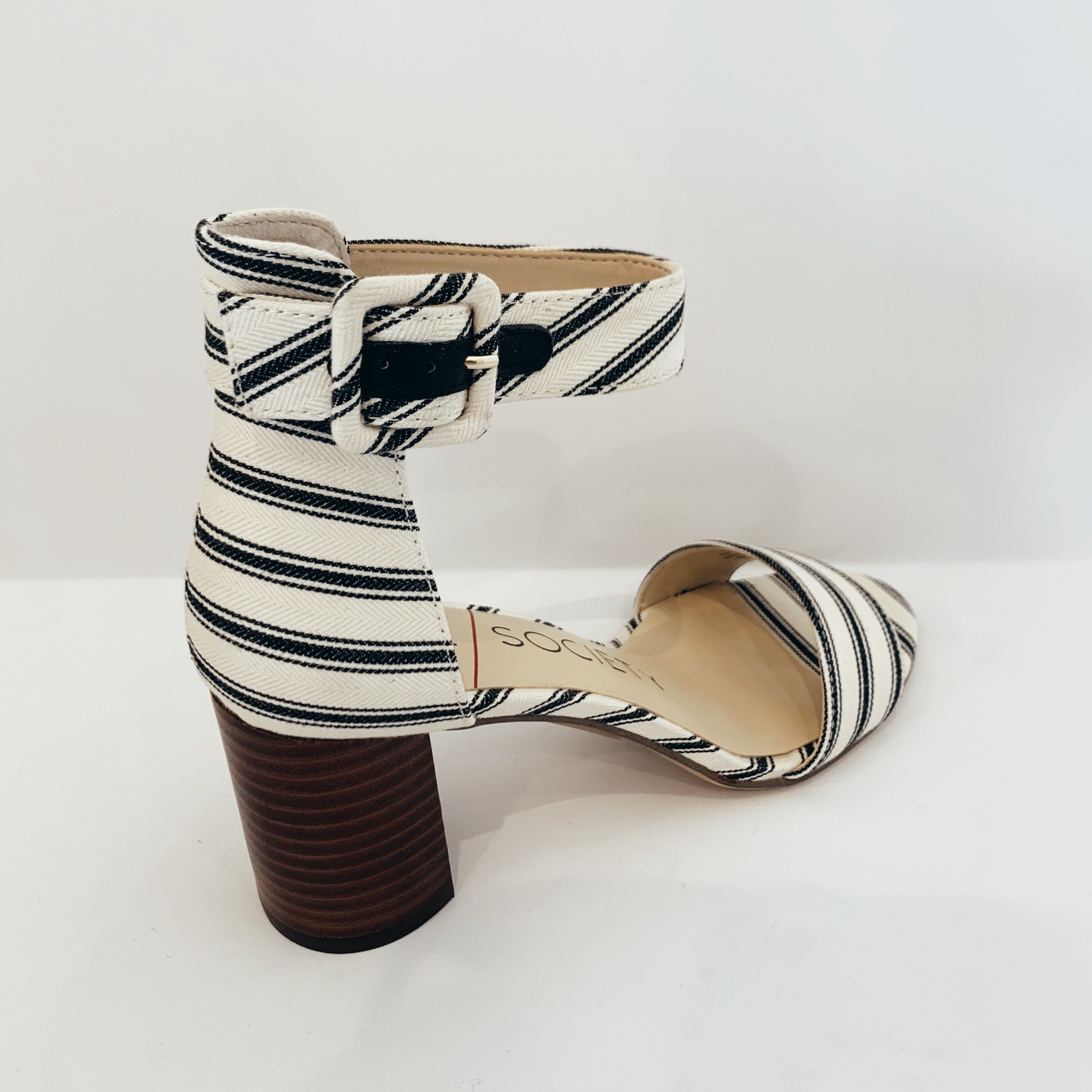 Striped Heel - Olive Street
