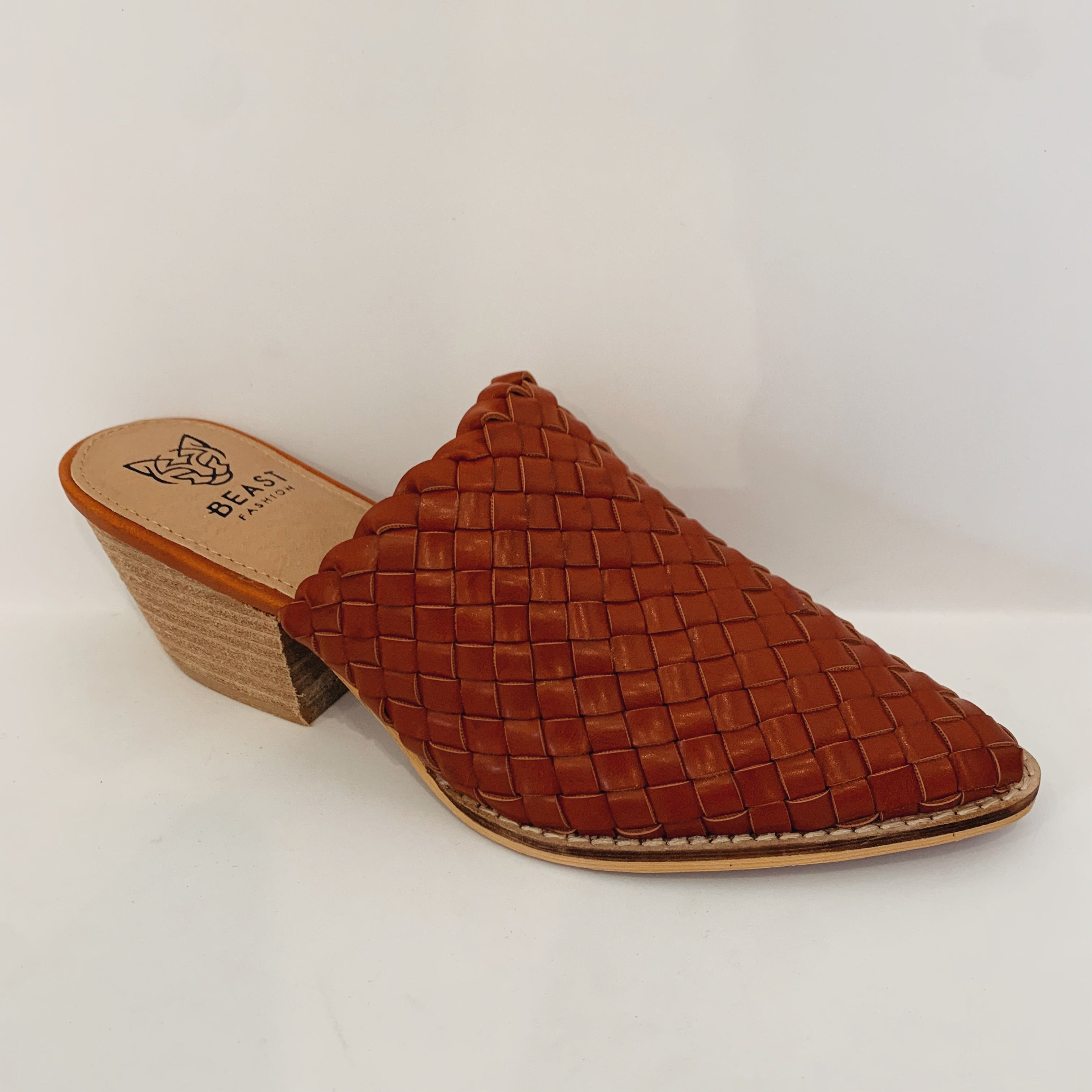 Woven Pointed Mule