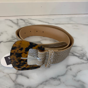 Wide Natural Snake Belt - Olive Street