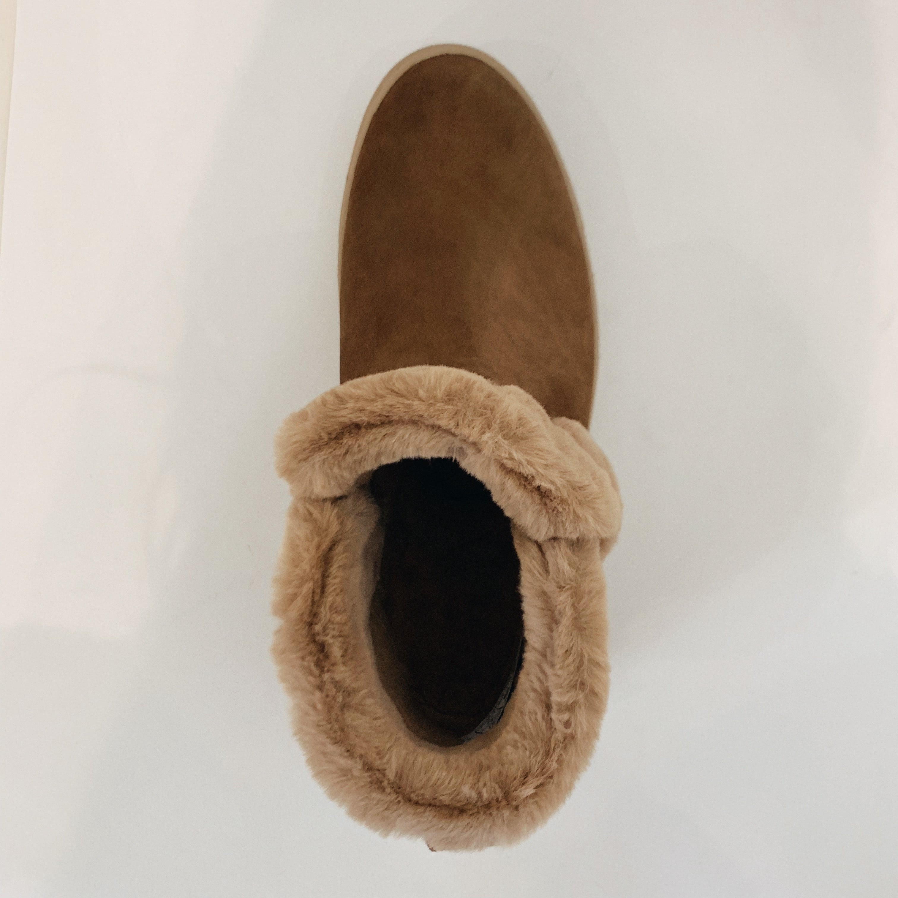 Slip On Furry Boot - Olive Street