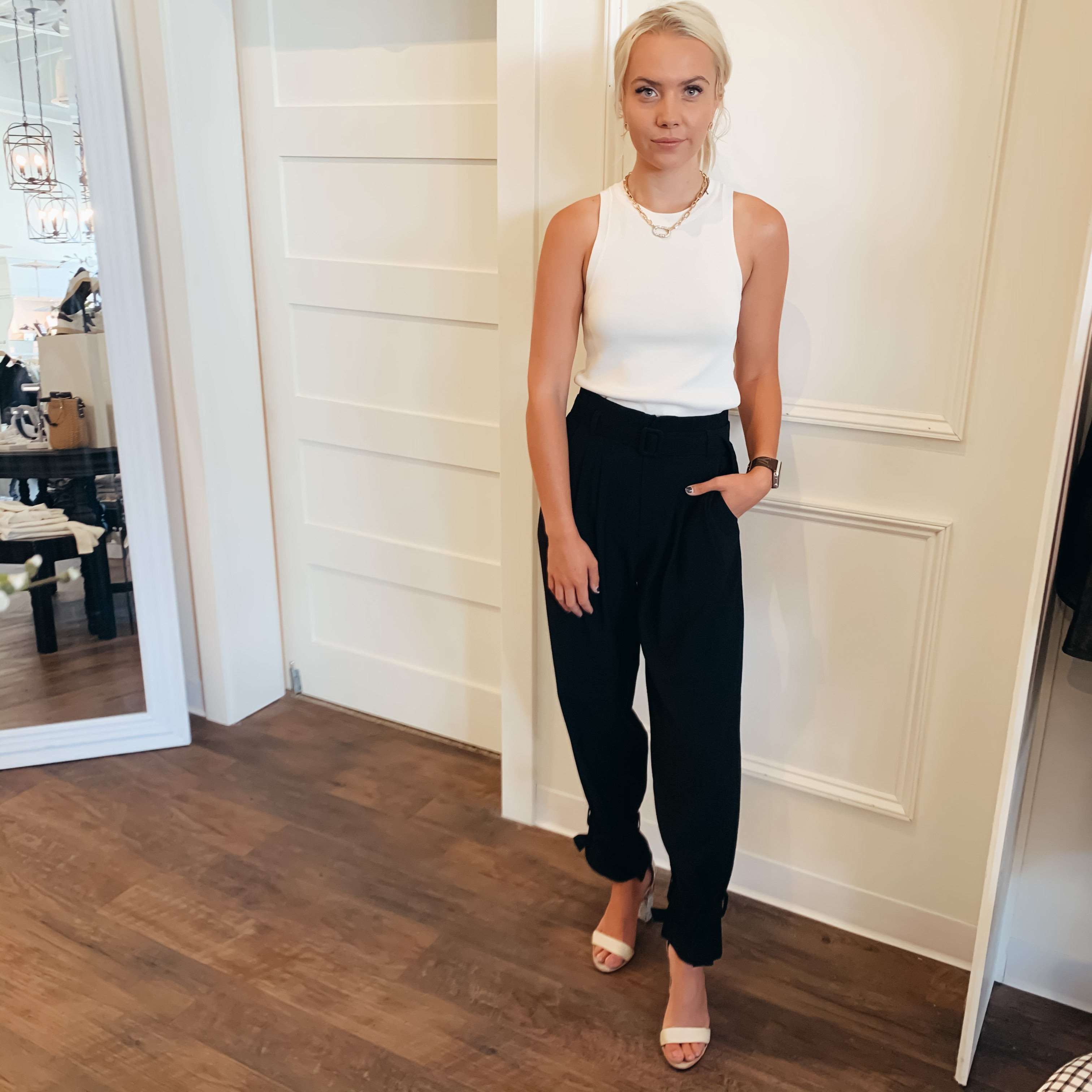 Belted Cuff Pant