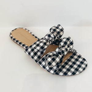 Gingham Bow Slide