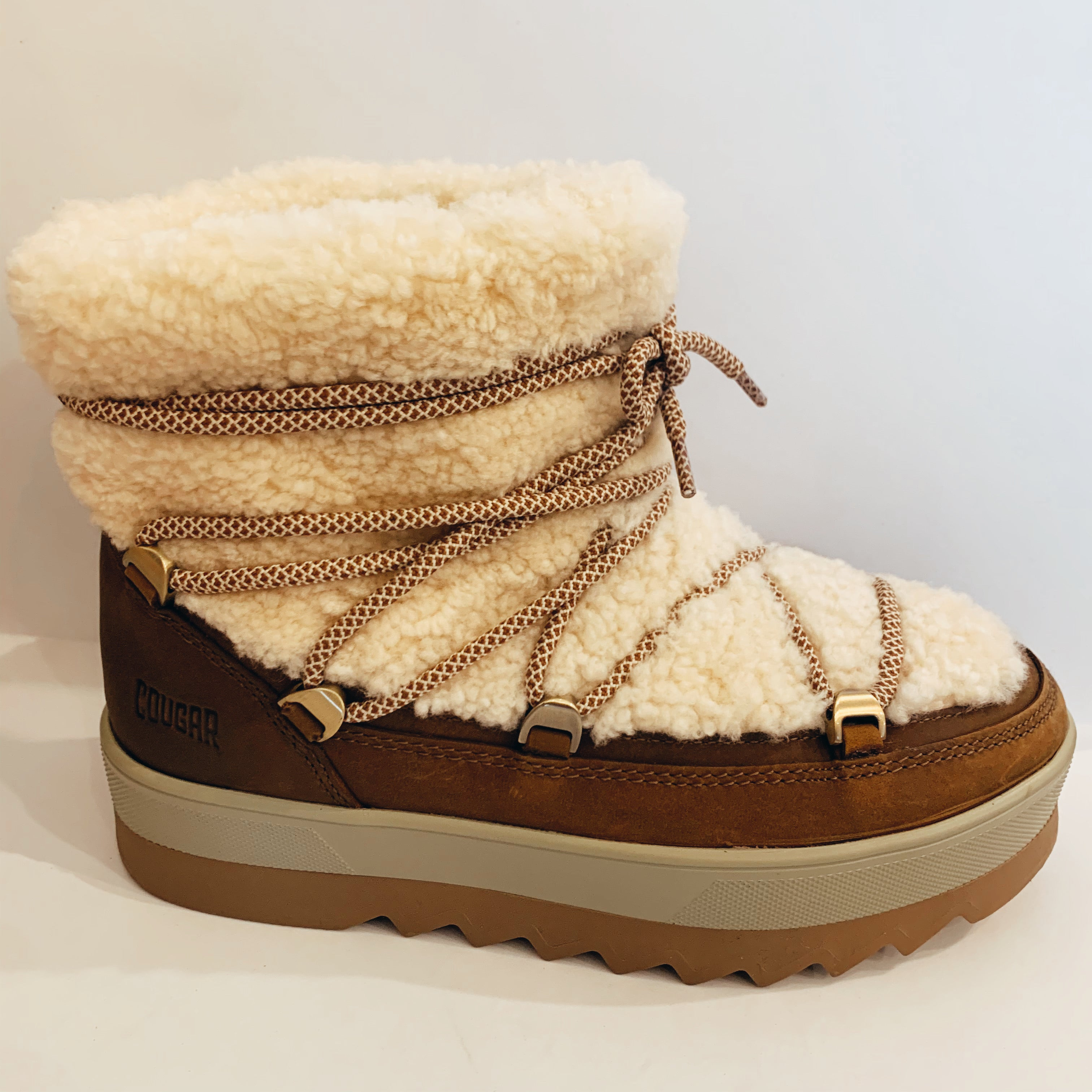 Ankle Wrap Shearling Boot