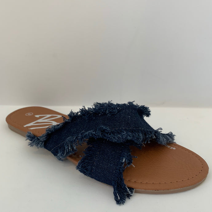 Dark Denim Sandal