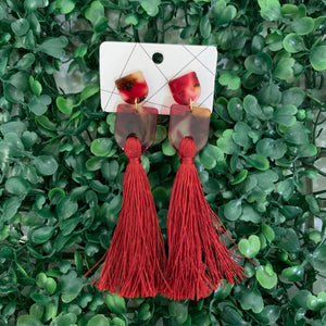 Red Enamel Tassel