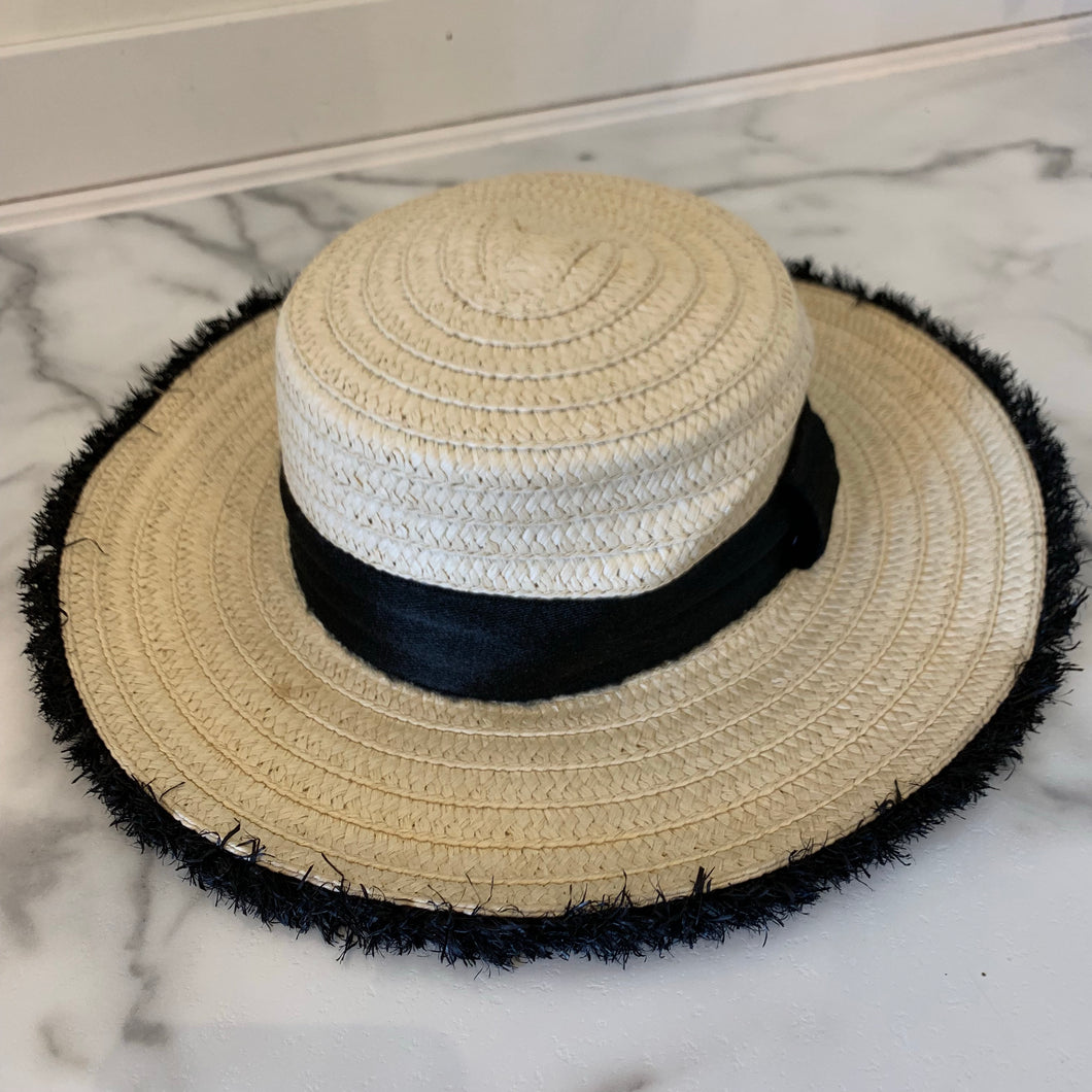 Fringe Straw Hat