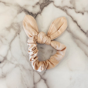 Tan Bow Scrunchie
