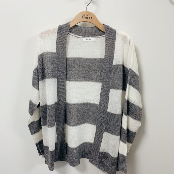 Grey Stripe Cardigan - Olive Street