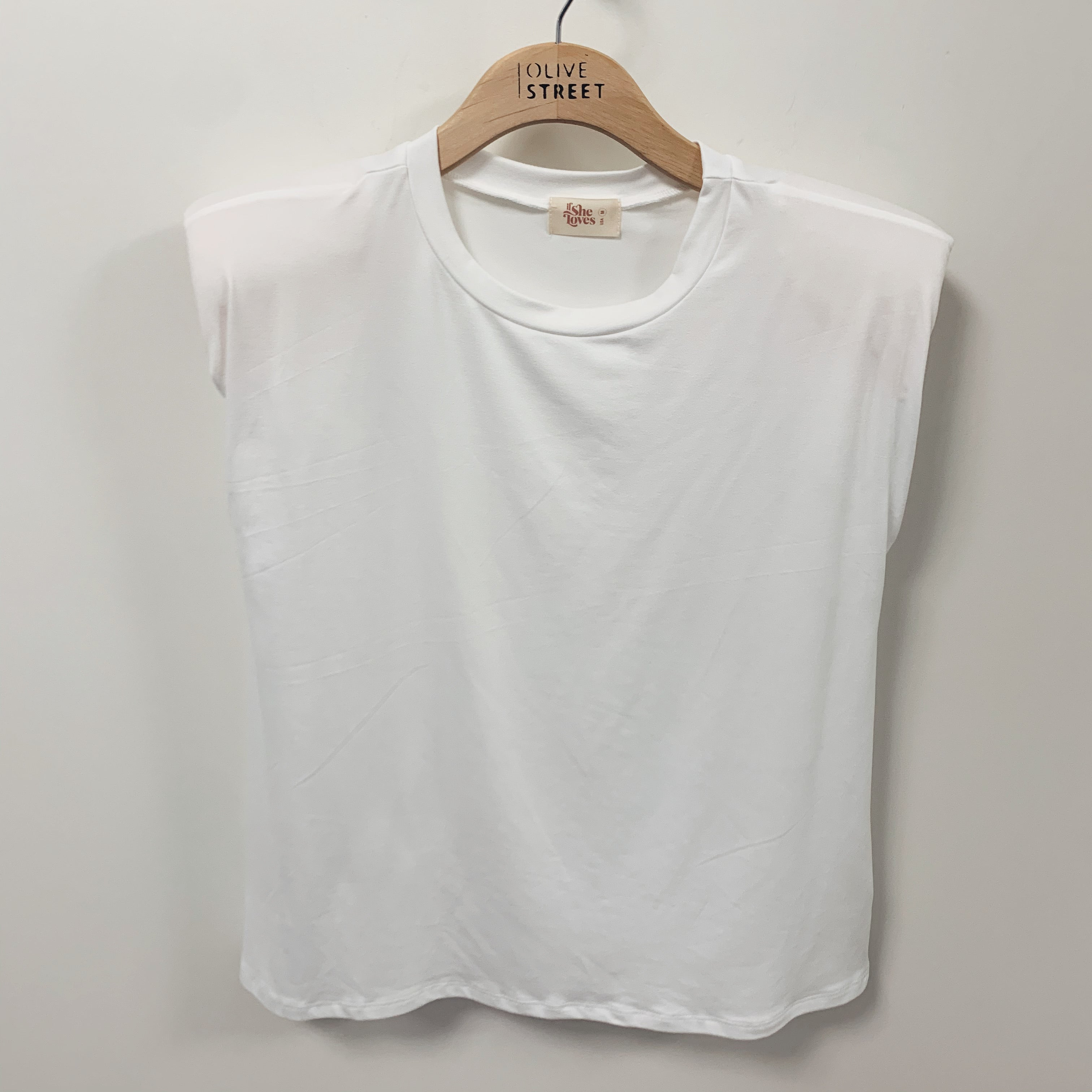 Basic Shoulder Pad Tee