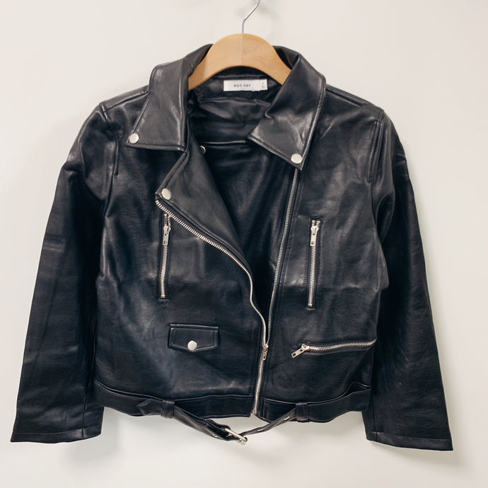 Faux Leather Moto
