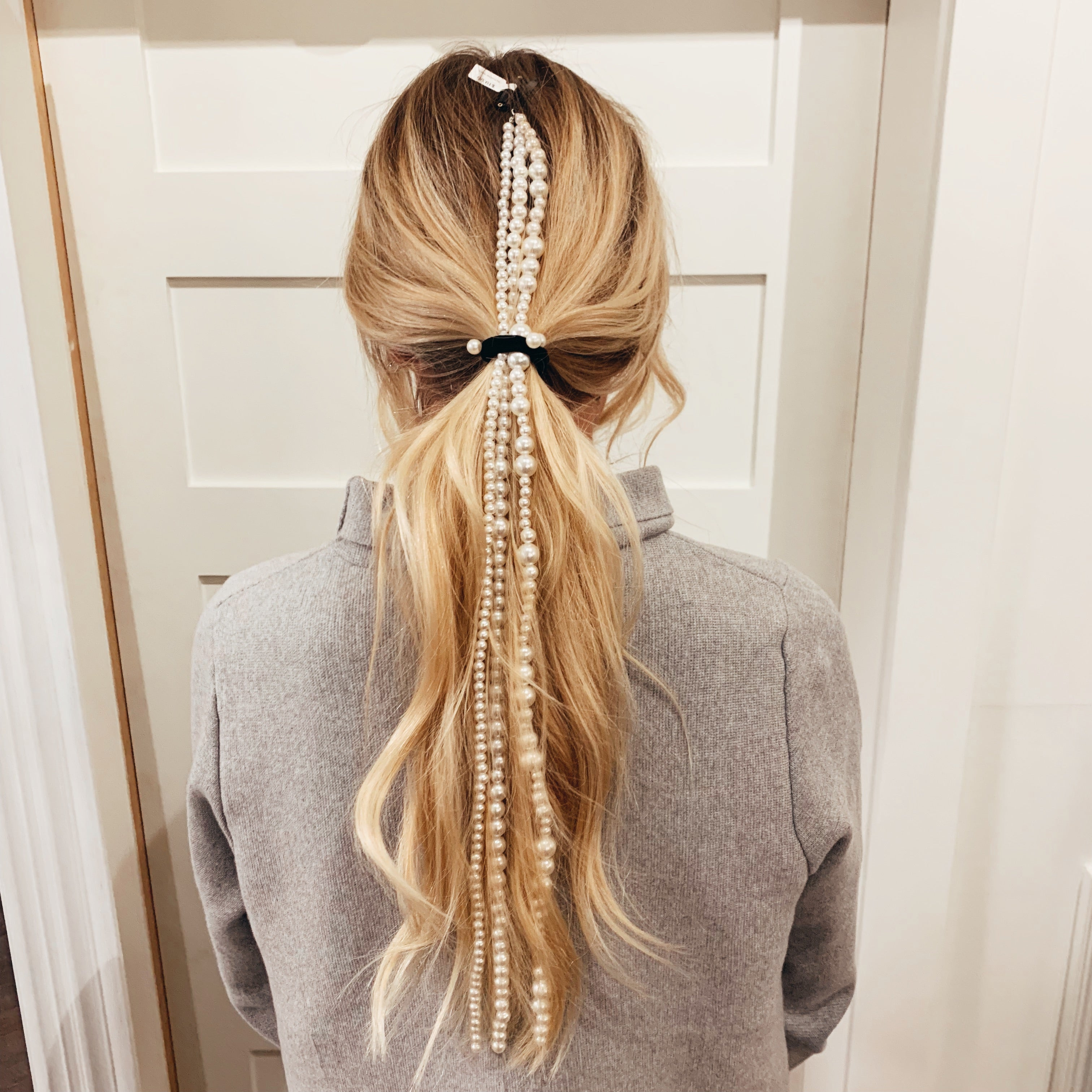 Long Pearl Hair Strands - Olive Street