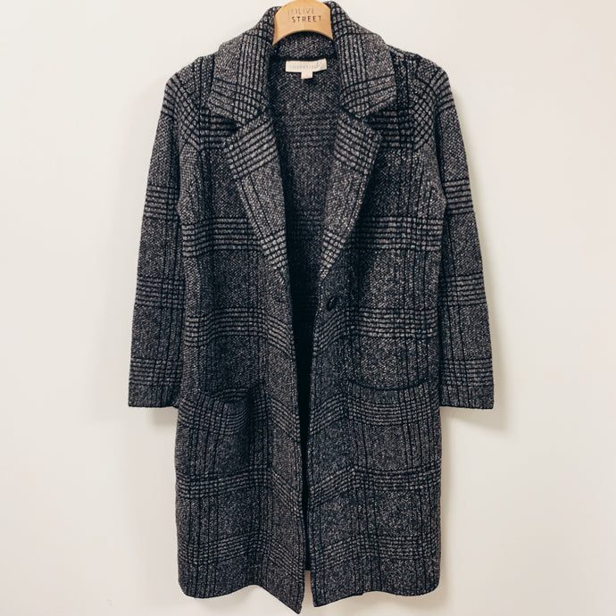 Plaid Sweater Coat - Olive Street