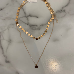 Metal Sequin Necklace - Olive Street