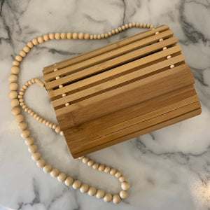 Bamboo Bead Strap Clutch