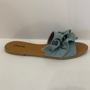 Denim Ruffle Sandle