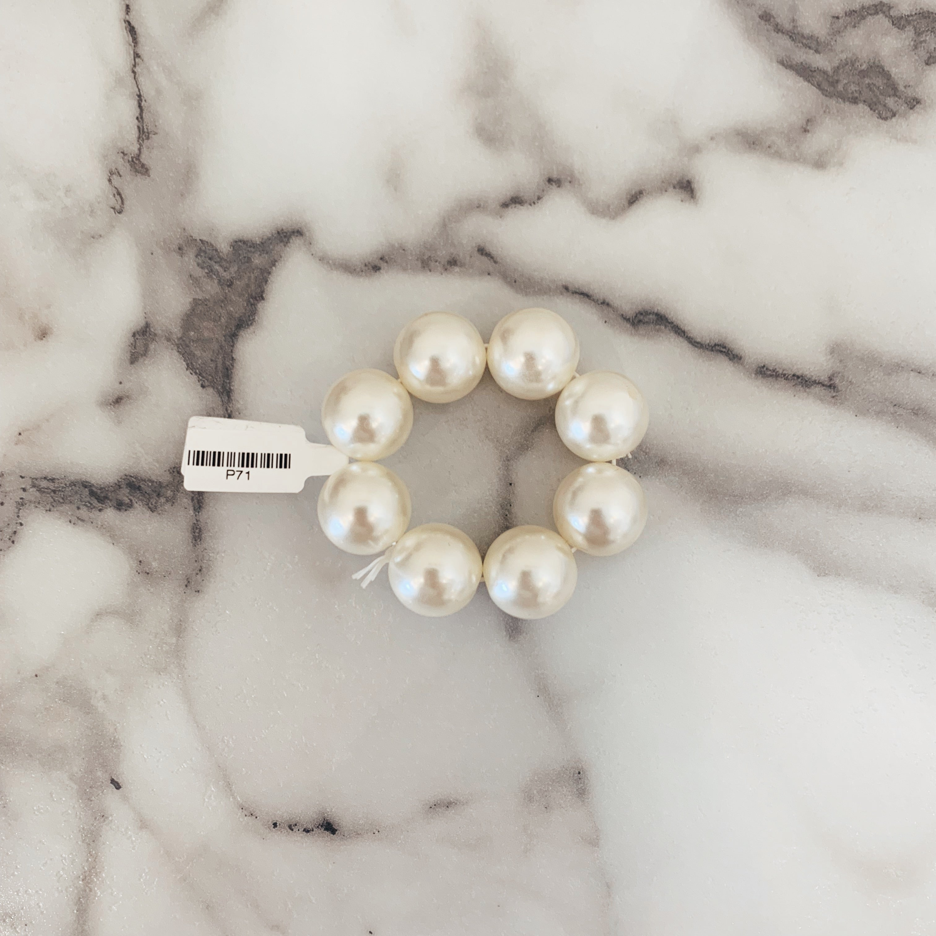 Large Pearl Scrunchie - Olive Street