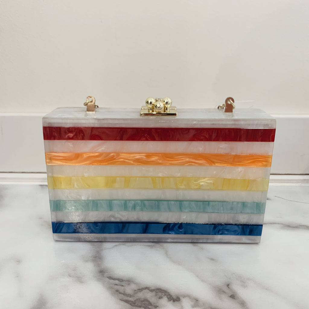 Rainbow Square Clutch - Olive Street