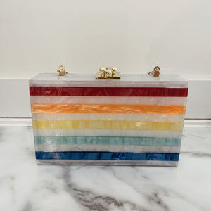 Rainbow Square Clutch