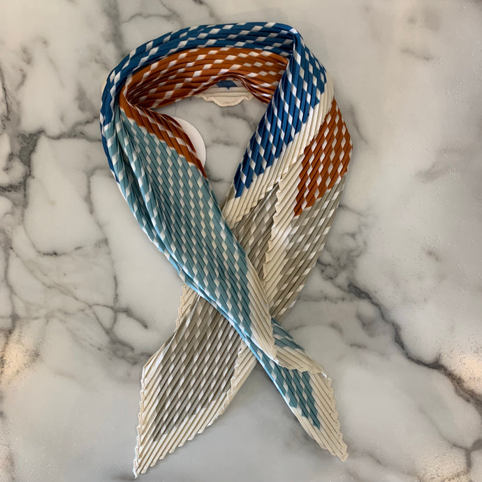 Multi Color Pleated Scarf
