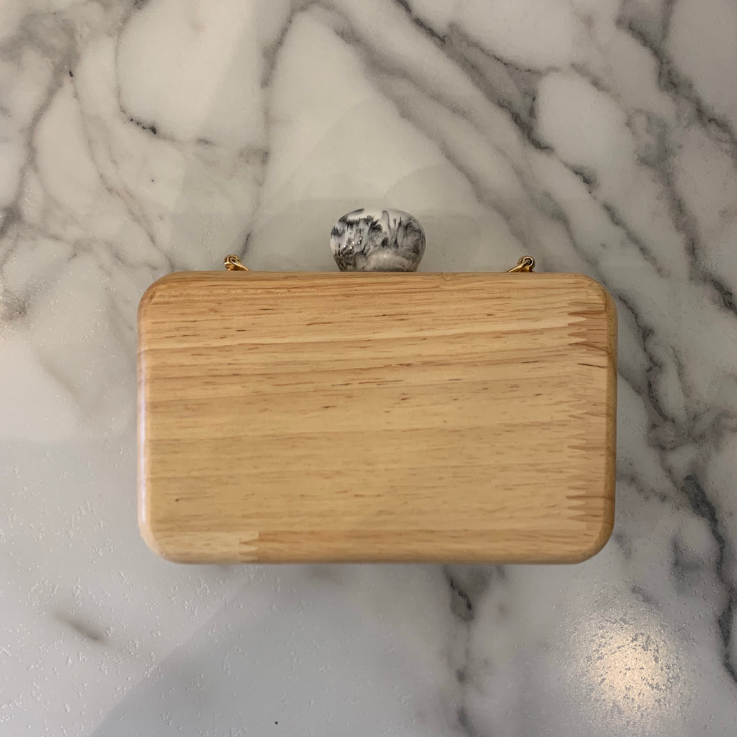 Wooden Marble Top Clutch