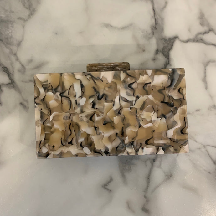 Multi Print Square Clutch