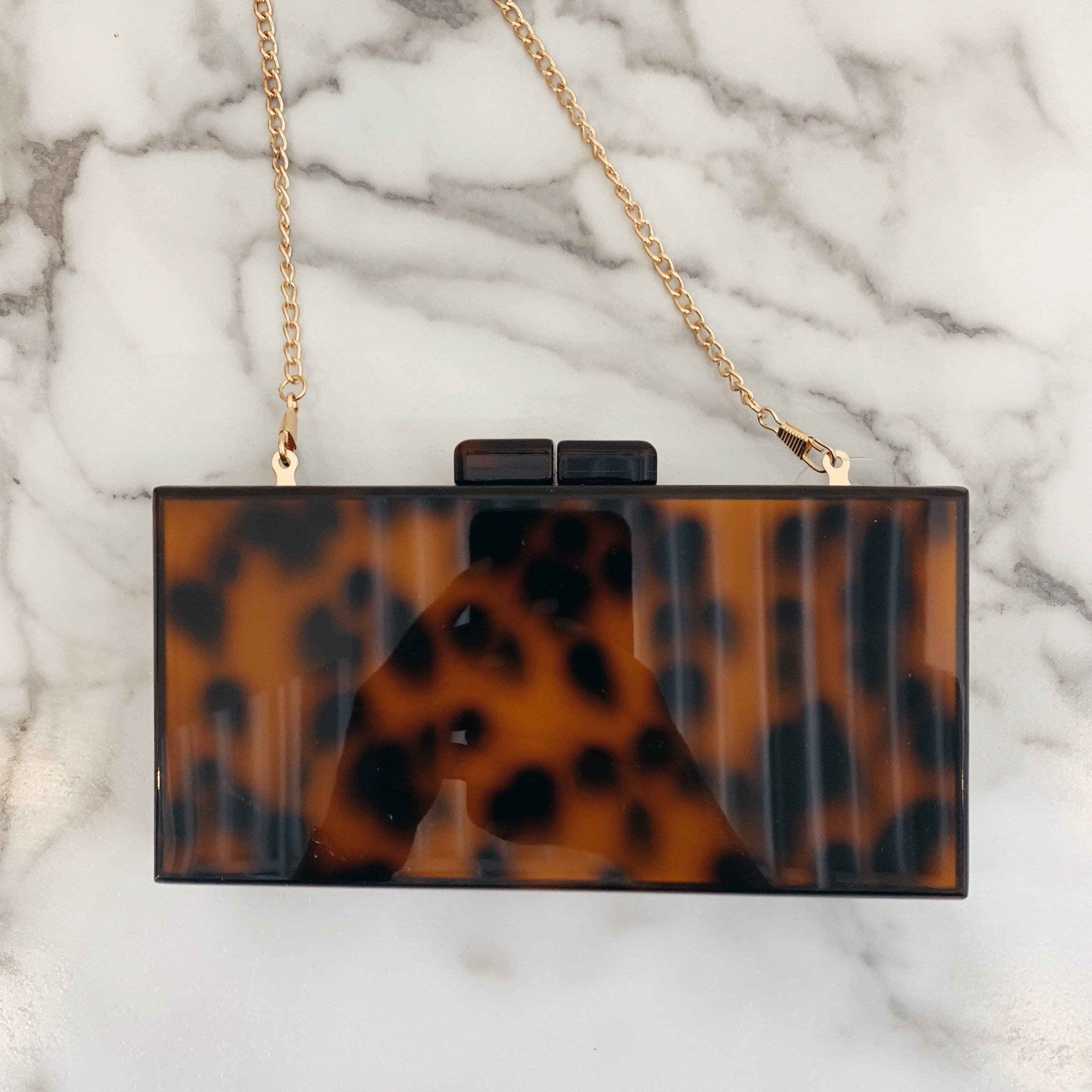 Tort Square Clutch - Olive Street