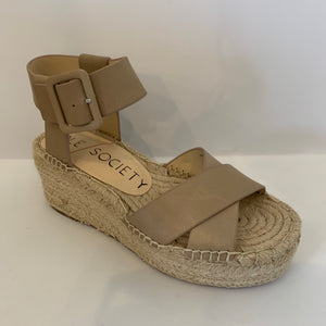 Espadrille Buckle Wedge