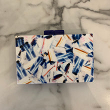 Multi Blue Square Clutch