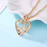 Heart Shape Letter Mom Pendant Necklaces Mother's Day Pendants Gift - satisfaction-365.com