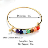 open copper Bracelet For Women Spiritual Yoga 7 color Energy Stone Fashion Jewelry. - satisfaction-365.com