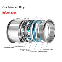 Arctic Symphony Rings Stainless Steel Base  Interchangeable Accessories Innter Ring .