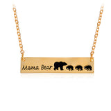 Mama Bear Pendant Necklace Gold Silver Mother Necklace . - satisfaction-365.com