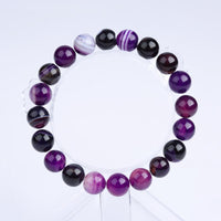 Natural Stone Purple Bead Bracelet Vintage Charm Round Chain . - satisfaction-365.com